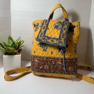 Vera Bradley French Yellow Mini Backpack